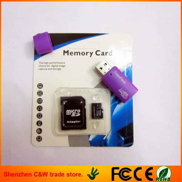(best!)Wholesale- Real Capacity 4GB 8GB 16GB 32GB micro sd card TF 4gb tf card Memory card +Free card reader(China (Mainland))