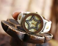 Original minimalist pretty delicate diamond starfish retro beautiful gift unisex watches watch women girl friend Christmas gift