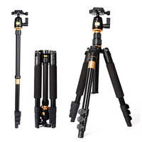 Portable Light Weight Magnesium Aluminium Tripod Monopod Q-555 Tripod+ Ball Head+ Pocket Kit