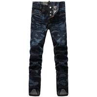 2014 NEW DSQ camo men jeans skinny designer mens jeans famous brand men pants plus size DSQ1372