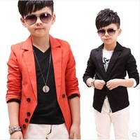 2014 new children's outwear small suit spring boy jackets Korean long sleeved boys casual blazers free shipping