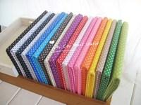 "FB025 20CMx30CM 18 Colors Assorted ""Polka Dots"" Fat Quarters Cotton Fabric Patchwork Tilda Scrapbooking Fabric for Sewing"