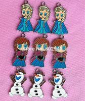 50pcs frozen  Elsa  ANNA  Princess   phone charms pendants party favor Gift free shipping