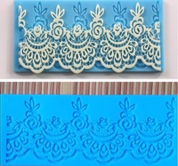 New 2014 Design silicone lace cake fondant mats for coffee /pudding cake decoration mold moulds high quality for kitchen179x71mm