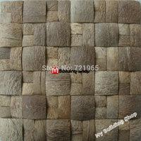 Coconut mosaic kitchen tiles backsplash CNMT015 natural coconut fireplace wall tiles 3d mosaics sheet