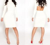 2014 New Summer Women Clothing Sexy Bandage Dress Mini Bodycon Backless Dresses Vestidos Clubwear Dress S/M/L #23