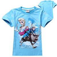 High quality kid frozen princess elsa anna boys girls t shirt top