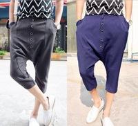 Fashion New 2014 Sport Men Harem Pants Casual Sport Hip Hop Pants Men Brand Baggy Dance Pants Sweatpants For Men,