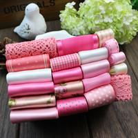 pink ribbon lace handmade bow hair accessory hair accessory hairpin diy material ribbon mixed kit set
