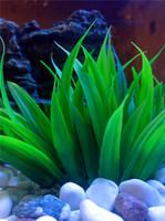 1pcs free shipping fish tank decoration aquarium accessories goldfish bowl aquarium decoration green artificial grass