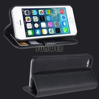 Hot Sale Newest Cover Cases For Apple iPhone5 5S Flip Leather Bags Case For iPhone 5 5S 5C High Quality ~1 SV001880