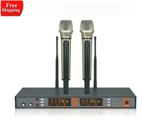 EM3033 wireless microphone Stage wedding doublue hanhdled performances Microphone Best quality