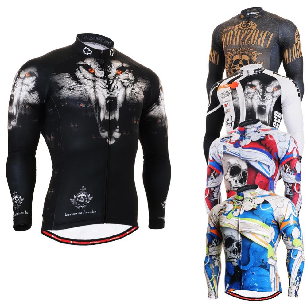 2014 personnalisées. men`s maillot cyclisme manches longues imprimé unique et respirant 4 saisons multi.- utileentretien ropa ciclismo maillot de vélo vtt