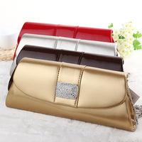 NEW arrive clutch evening bag pu leather diamond decorate luxury clutch bags shoulder feast bag