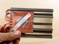 5.4cm heatpipe copper radiator graphics card refires diy ultra-thin belt screw