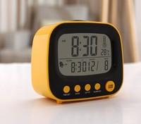 New Digital LCD Screen Mini Desktop LED Projector Alarm Clock Multi-function With Snooze+Backlight Calendar