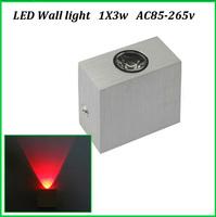Free shipping AC85-265V wall mounted led wall lamp 1X3W Epistar chip high power led spot wall light Modern home light