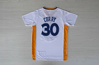 Promotion New 2014 USA  the Golden State #30 Stephen Curry men camisetas sport shirt embroidery short sleeve basketball  jersey