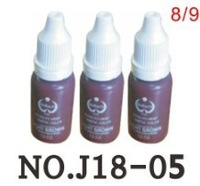 Free shipping 3 colorful permanent Makeup tattoo ink pigment 15ml for eyebrow makeup