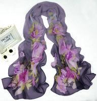 New Women's Fashion Georgette Long Wrap Shawl Beach Silk Scarf sf1039