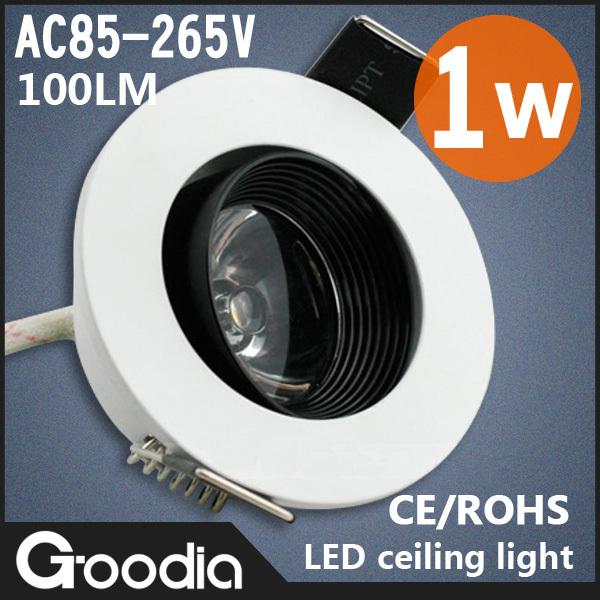 Atacado 1 W 3 W 5 W 7 W 9 W 12 W 18 W LED teto Downlight LED Spot Light CE & ROHS AC85-265V fresco quente Downlight branco teto lâmpadas(China (Mainland))