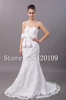 hot sale wedding gown sexy mermaid bridal dresses  custom made free shipping