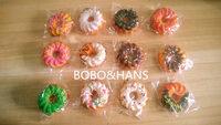 New Cute colors cookies squishy charm / mobile phone strap Pendant / Wholesale