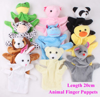 Free Shipping 20cm Baby Plush Toy/Finger Puppets/Tell Story Props Animal Doll /Kids Toys/Children Gift/TOB