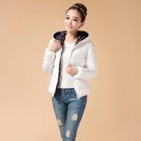 L-XXXL 7Color New 2014 Fashion Winter Female Down Jacket Women Slim Casual Clothing Winter Coat Overcoat Ladies Parka White
