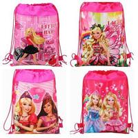 1PCS Princess Children Printing Cartoon Drawstring School Backpacks,Kids School Shoulder Bags,Non-woven mochilas school kids #32