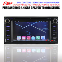 Android 4.4.2 Toyota DVD GPS for Hilux VIOS Camry Corolla Prado RAV4 Prado Capacitive Screen Dual Core Free 8GB Map Free Wifi