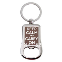 2014 Time-limited Seconds Kill Keychain Chaveiro Trinket free Shipping Stainless Steel Keep Calm And Carry On Chains Rings C30