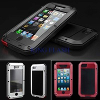 6 Colors Hot Aluminum Tempered Glass Cover Case Waterproof Shockproof for iPhone 5/5S B003 Dropshipping SV000824