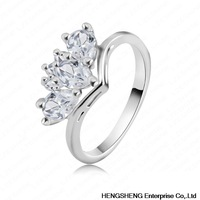 New Arrival Gorgous Small  Rings 18K Rose Gold/ Platinum Plating Hot Selling Genuine Swiss Zircon  Gift Jewelry Rings RIC0014