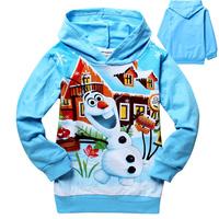 NEW Frozen olaf cute Long Sleeve Hoody Kids Cartoon Hoodie HOT