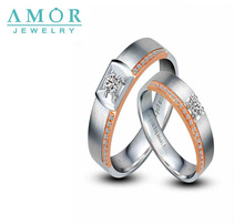 AMOR  LOVE MY  LOVE SERIES NATURAL DIAMOND 18K WHITE  LOVERS RING JBFZSJZ008