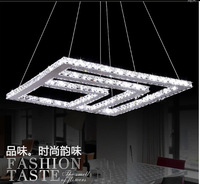 Free Shipping Modern Square  LED Crystal Chandelier,Lighting fixture for home decoration.L74.5*W74.5cm*H100cm.