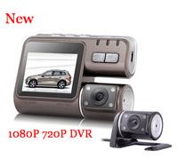 New I1000 Allwinner dual camera car dvr with night vision