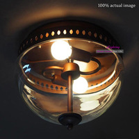 Free Shipping New products Classical Vintage Juliet Ceiling Lamp Warehouse Industrial Style Glass Ceiling  lights E27*2