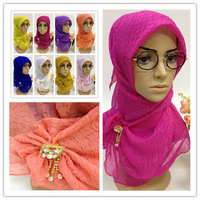 SYF070 new style muslim square hijab scarf free shipping,fast delivery,assorted colors
