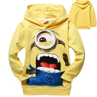 New despicable me 2 minion boys t shirt children kids boys t shirts child Spring Autumn hoodies Tops T shirts Free Shipping