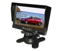 "Free shipping!7"" Car Camera TFT LCD Monitor 480*234 2 video/1 audio input w/ remote control"