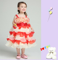 Girl Dress 2014 New Children's Wedding Christening birthday party Dress Princess Tutu Dress  2-9T age