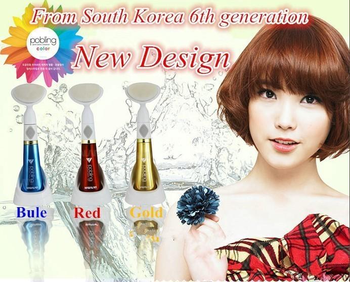 Grátis Wash envio de Máquina Mini Beleza da Pele Massageador Escova Elétrica Facial Pore Cleaner Limpeza Massagem Corporal Blue FC -05(China (Mainland))