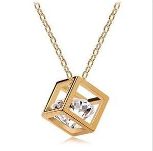 Продвижение 2014 мода Высокое качество 18 К розового золота магический куб 0.75 мм ...