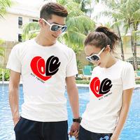 White 2014 lovers t-shirt lovers short-sleeve women's summer
