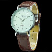 10PCs/Lot Quartz Leather Wrist Bracelet Fashion Women Watch Ladies Wristwatch Brown Color