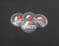 Wholesale New A Set Of 4pcs 56mm CAR Auto Tyre Wheel Center Hub Cap Hubcap Stickers Emblems Badge Decal Fit TRD 1