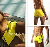 Free Shipping Hot Nice Mens  Swim Trunks Shorts Slim Super Sexy Swimwear Fit Clear Promotion 5 Colors 3 Sizes M L XL