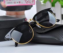 Men Women Retro Half-frame Sunglasses Wayfarer Frame Glasses Brand designer glasses(China (Mainland))